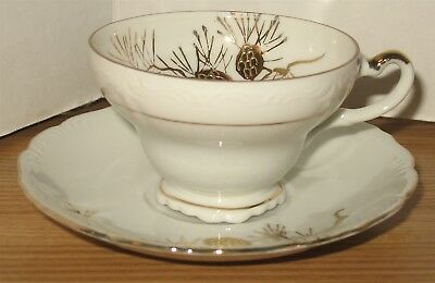 Vintage Royal Carlton Fine Bone China White Porcelain Gold Trim Tea Cup & Saucer