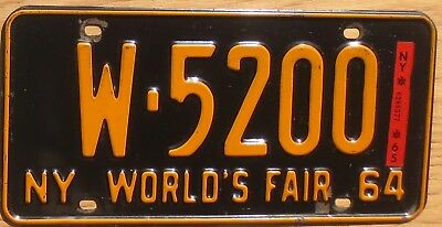 1965 New York License Plate Number Tag Worlds Fair – NICE PLATE