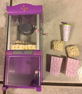 American Girl Popcorn Machine Concession W Boxes Soft Drink New