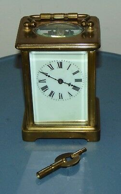 ANTIQUE FRENCH CARRIAGE CLOCK Needs TLC