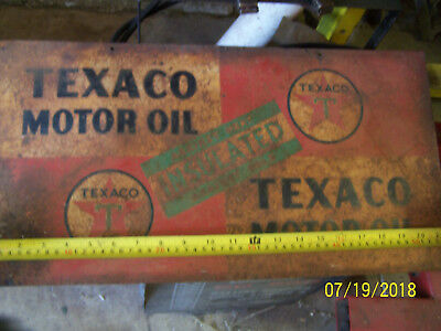 used 2 sided Texaco motor oil sign
