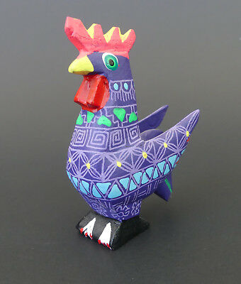 Rooster Oaxacan Wood Carving | Alebrije | Colorful Mexican Folk Art | Mexico