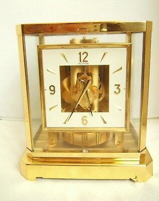 Lecoultre Atmos Square Dial Clock Needs Servicing
