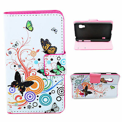 Leather Card Slots Wallet Fold Phone Case Cover For LG Optimus L5 II Dual E455