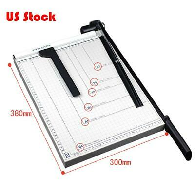 "15""Paper Cutter Stack Trimmer ScrapBook Sheets Heavy Duty Card Guillotine Office"