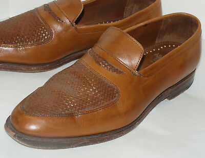 739560624e0 Allen Edmonds Carlsbad Brown Penny Loafer! Slip-On Dress Shoes woven  Leather 11D