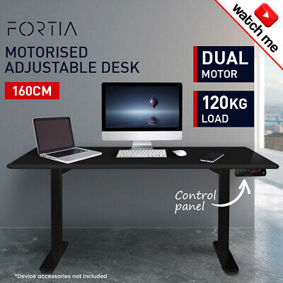 160cm Height-Adjustable Standing Desk Electric Motorised Sit Stand Up Office BK