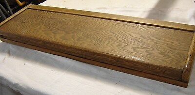 Antique Oak Stacking Barrister Bookcase Top Ogee Style with wood bands.  8210