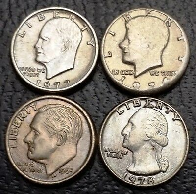 Lot of 4x Vintage Novelty U.S. Coins ***Great Condition***  Free Combined S/H