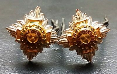 Collection of 2 Royal Officer's Badges - Tria Juncta In Uno - Very Collectible