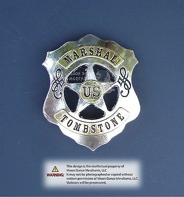 """Western Equestrian Cowboy Tack Engraved Tombstone Marshal Concho 1 1/2"""""""