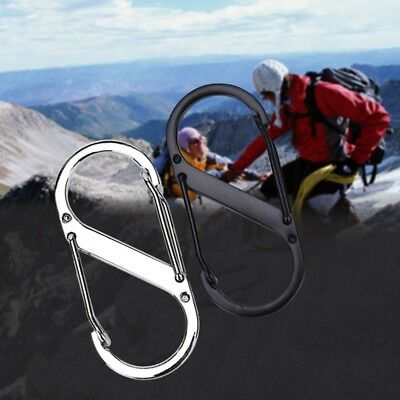 8-Shaped Outdoor Hook Buckle Snap Clip Mount Climbing Carabiner Key Chain Metal