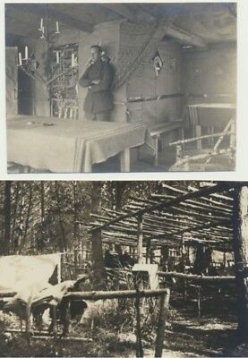 02) LAVERGNY LAGER B. LAON : 2 photos originales - Camp allemand (1917