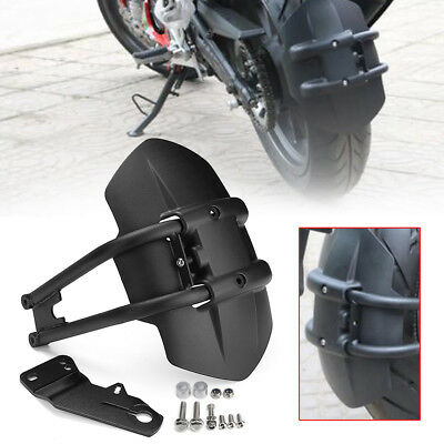 Motorcycle Universal Rear Tire Wheel Cover Fender Mudguard Splash Guard +Bracket