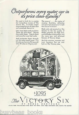 1928 Dodge Brothers advertisement, DODGE Victory Six Coupe Brougham