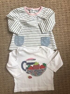 Baby Boden Girls 3-6 Months Tops Strawberry Liberty Striped