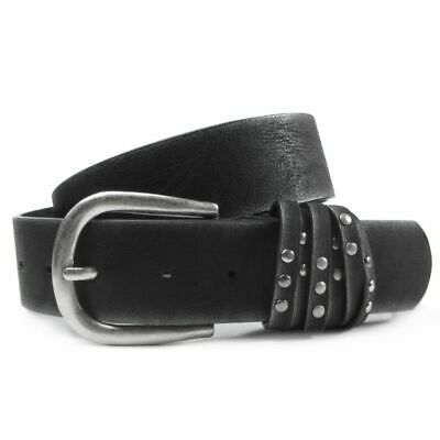 Women's Belt Ariane Studded Leather Faux Leather Mix Metallic Look Many Colours