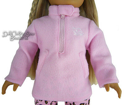 "For 18"" American Girl Doll Clothes Pink Fleece Logo Jacket HALF PRICE DEAL!!!"