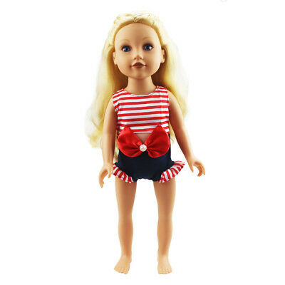 One-piece Swimwear Summer Clothes for 18inch American Girl My Life Doll Red