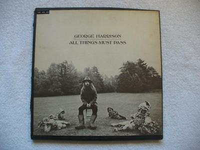 "GEORGE HARRISON ""ALL THINGS MUST PASS"" 1970 US ORIGINAL 1st PRESS 3 LP BOX + OIS"