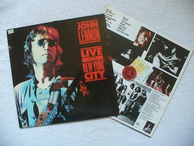 "John Lennon ""live In New York City"" 1972 Rare Ger Original Lp 1986 + Ois Beatles"