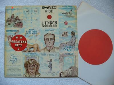 "John Lennon Plastic Ono Band ""shaved Fish"" 1975 Ger Original Apple Lp M-- + Ois"
