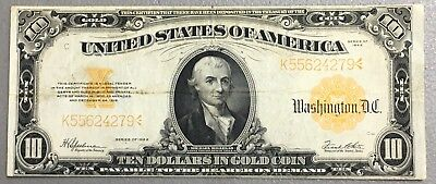 1922  $1 Large Size GOLD Certificate K55624279 E-82