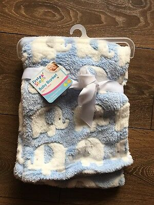 Baby Boys First Steps Baby Blanket BRAND NEW
