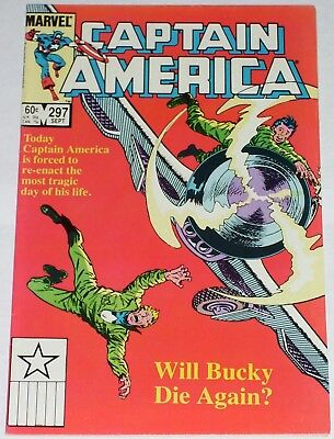 Captain America #297 from Sept 1984 F to F/VF Bucky