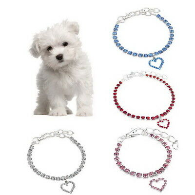 2018 Pet Dog Necklace Collar Charming Crystal Rhinestone Bling Cat Jewelry Gift