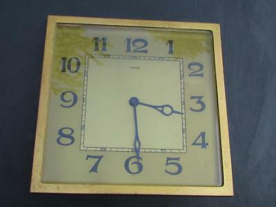 Vintage Art Deco Kienzle Brass Mantle Clock - No Reserve Spares / Repair