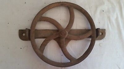 Antique Cast Iron Barn Door Track Roller Hardware Pulley Wheel