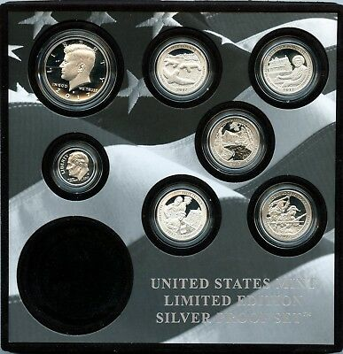 2017-S United States Mint Limited Edition Silver Proof Set W/out $1 Coin EJ679