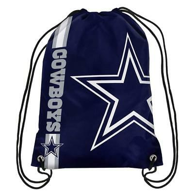 Dallas Cowboys Back Pack/Sack Drawstring Gym Bag Sport Backpack New Side Stripe