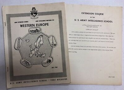 Army Intelligence Subcourse 340 West Europe & Excercise Booklet 1965 Originals