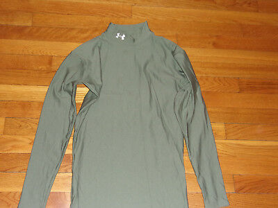 Under Armour Coldgear Long Sleeve Mock Compression Jersey Mens Medium Excellent