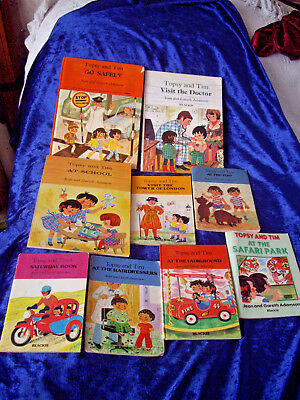 Lot of 9 vintage Topsy and Tim handy books small + large Blackie Adamson rare