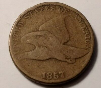 1857 flying eagle cent 922