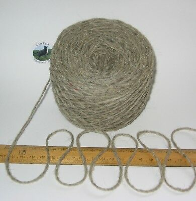 rug wool Natural Cream Grey 900g 100/% undyed British Swaledale Aran knitting