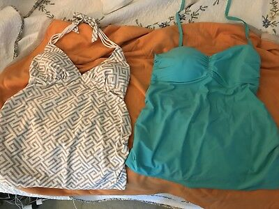 Two Maternity Bathing Suit Tops