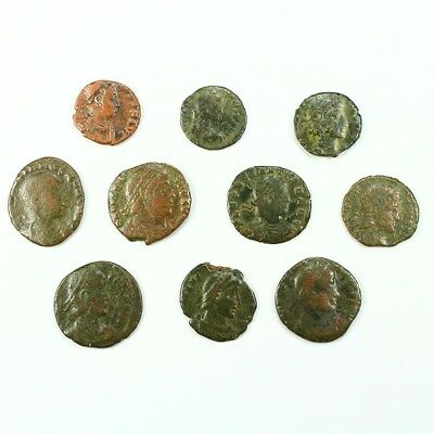 Ten (10) Nicer Ancient Roman Coins c. 100 - 375 A.D. Exact Lot Shown rm2913