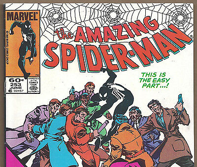 The Amazing Spider-Man #253 vs. the Rose from June 1984 in Fine+ condition NS