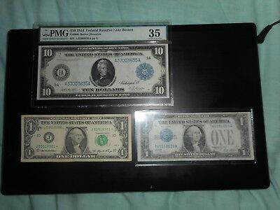 Lot of 3  1914 star note, dollars,funny back