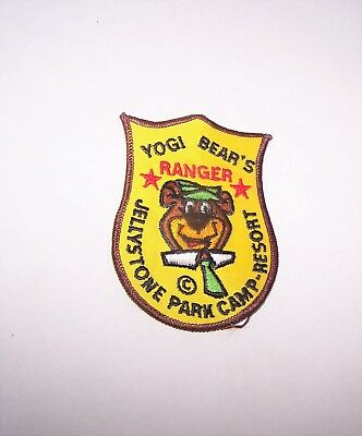 Vintage Yogi Bear's Jellystone Park Camp Resort Ranger Iron or Sew On Patch