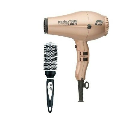 Parlux 385 Power Light Ceramic and Ionic Dryer ROSE GOLD + FREE Hilift Brush