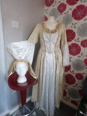 Vintage Quality Ex Theater Medieval /gothic  Style Outfit  Size 16/18