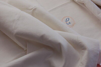 """Vintage French Linen Blend Sheet MC Monogram for PROJECTS Imperfect 80"""" x 112"""""""