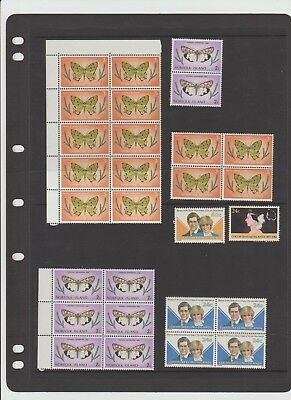 mint unhinged stamps from norfolk island,cocos island,  blocks, couple singles