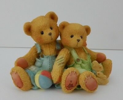 Enesco 1995 Cherished Teddies Travis & Tucker We're In This Together #127973