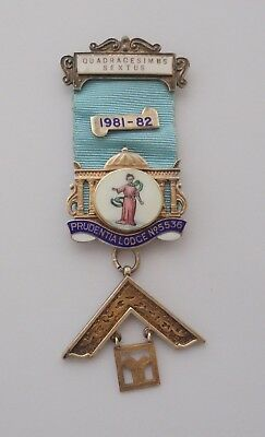 Masonic Prudentia Lodge past Masters Breast Jewel
